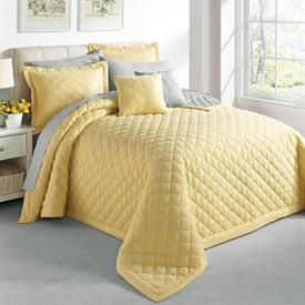 A Yellow Bedspread Adds Sunshine To Any Room Even On