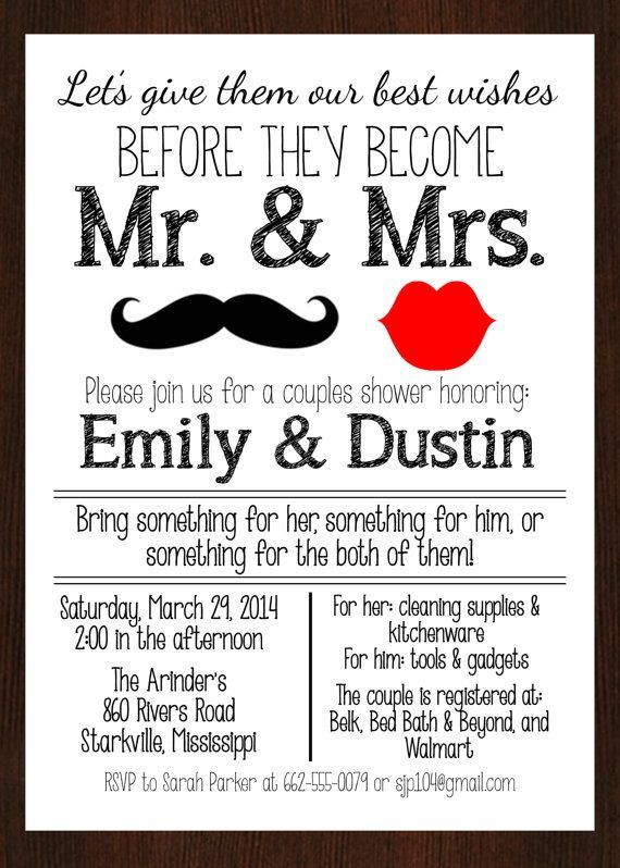 Bridal Party Invitation Letters