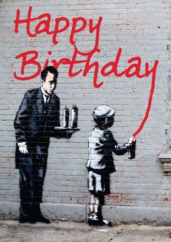 Grafitti Happy Birthday Wishes Masculine