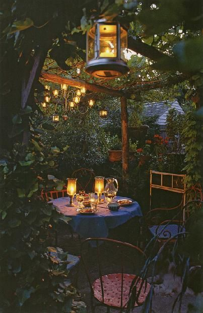 Back Yard Romantic Dinner Candles
