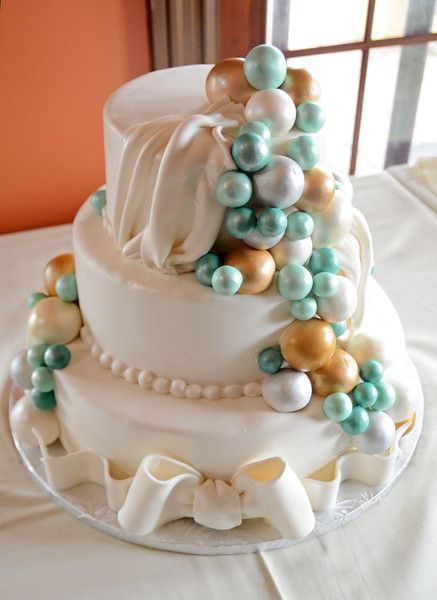 Teal Wedding Bubbles