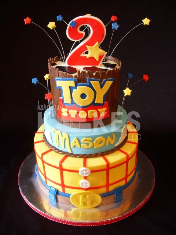 Toy Story Birthday Kake Cakes Iced In Buttercream With
