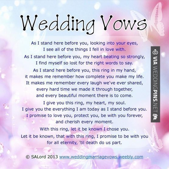 Traditional Christian Wedding Vows