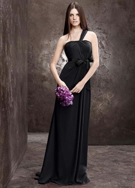 Wedding Honor Matron Dresses Black