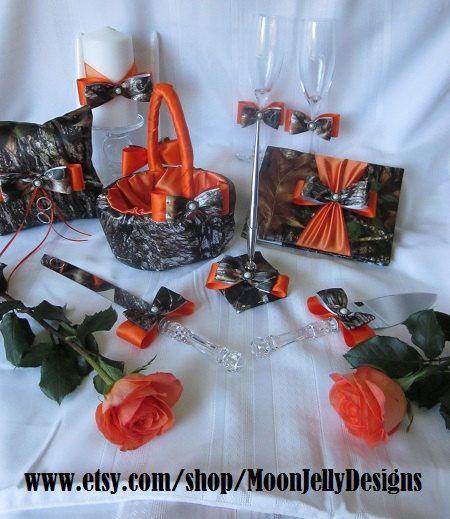 Orange Camo Reception Wedding Decoration And Ideas