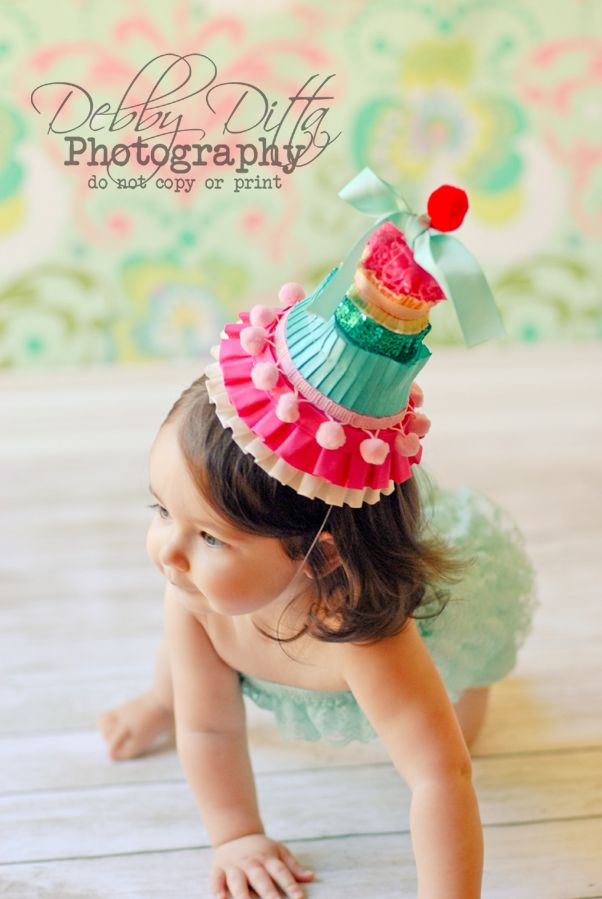 1st Birthday Hats Girls