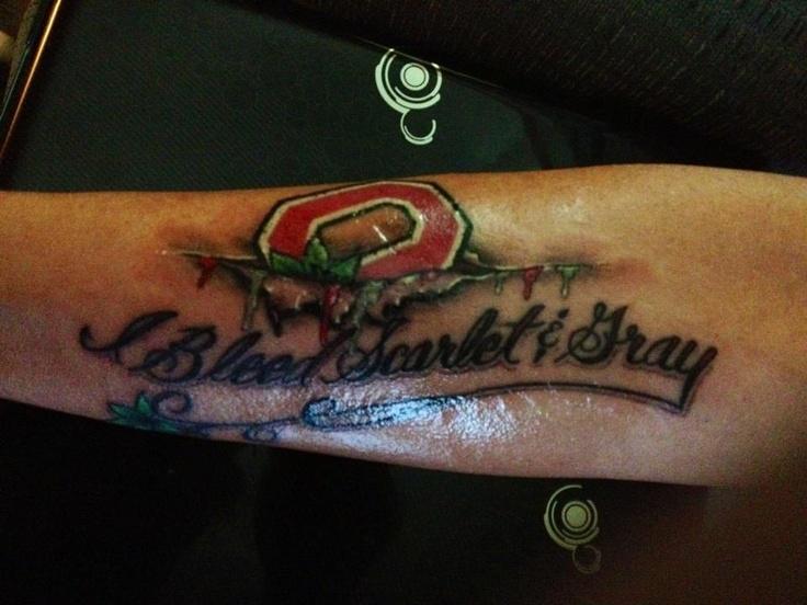 Ohio State Tattoo Designs Buckeyes