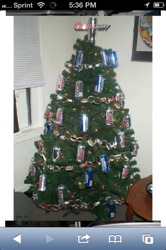 Decorated Christmas Tree Trash