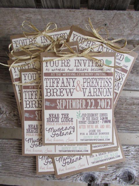 Inexpensive Country Wedding Invitations