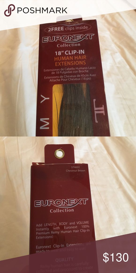 Chestnut Brown Human Hair Extensions Euronext