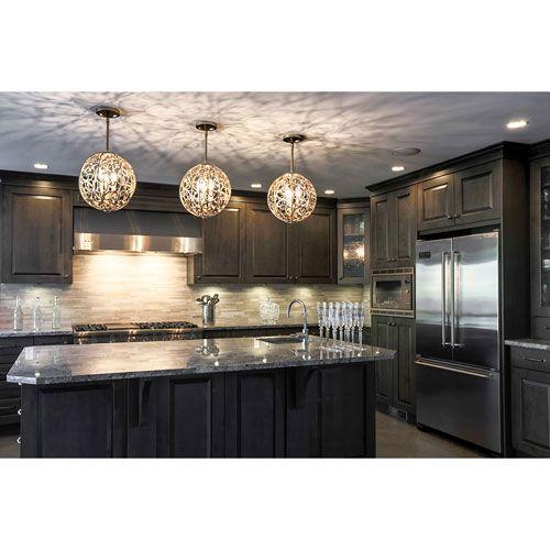 Brushed Nickel Kitchen Pendant Lights