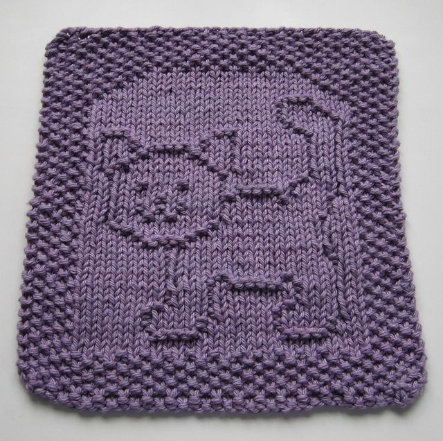 Cat Knitting Dish Cloths