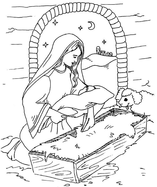 Jesus Cut Out Manger Page