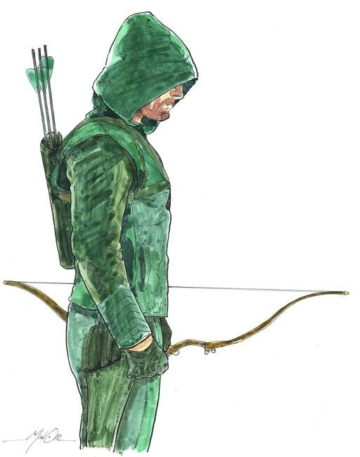 Arrows Green Head Drawings