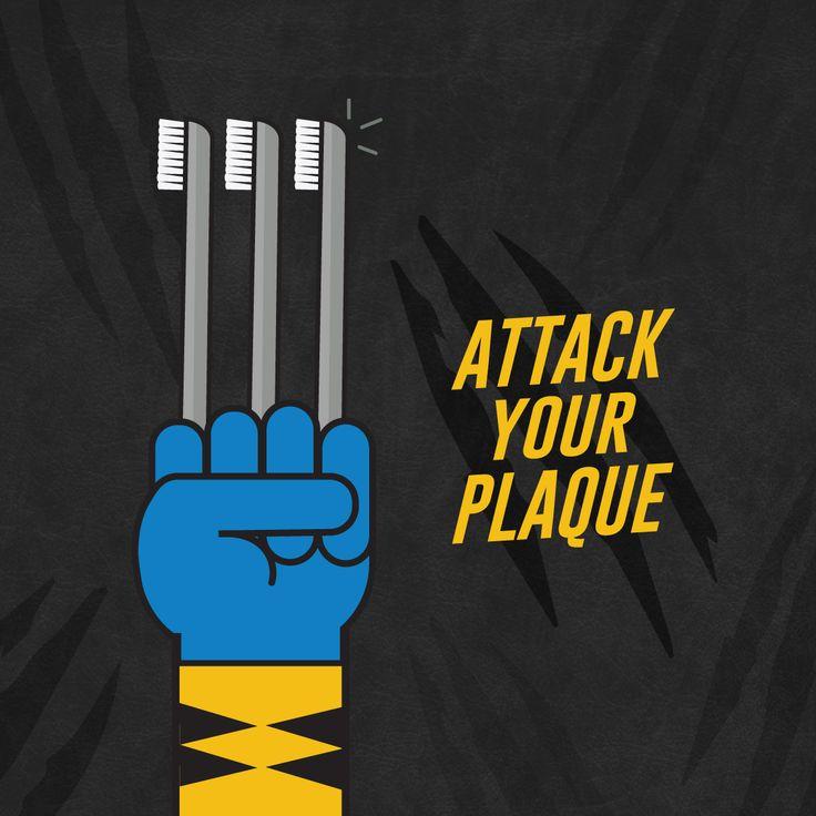 Wolverine Brushing His Teeth