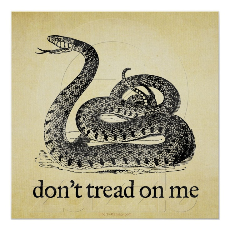 Dont Tread Me Tattoo Flash