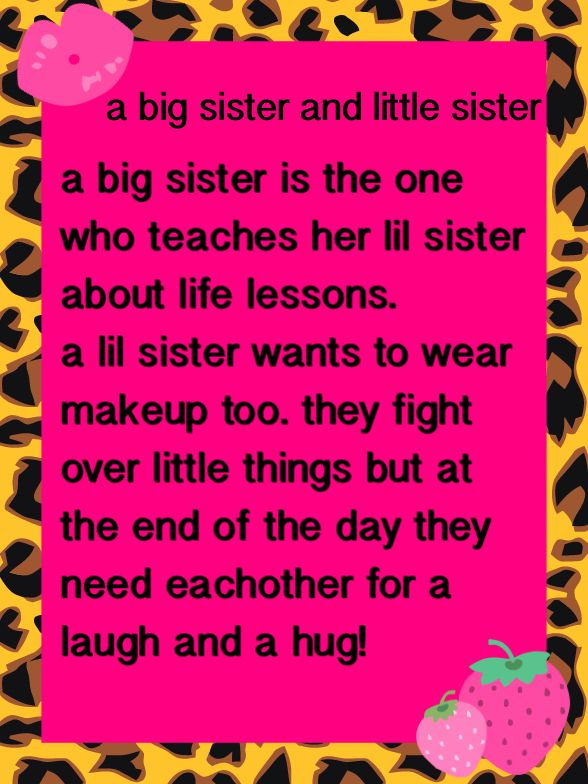 Big Sister Poems Brother Baby