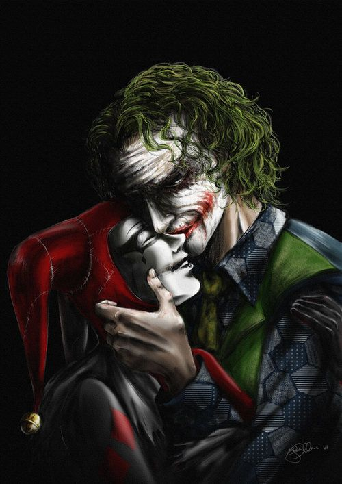 Batman Joker And Harley Quinn Kiss