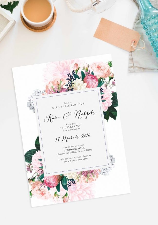 Rustic Wedding Invitations Adelaide