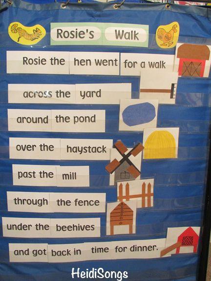 Rosies Walk Preschool Sequencing Cards