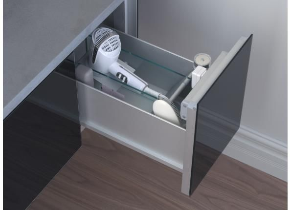 Drawer For My Hair Dryer Includes An Outlet Plug In The
