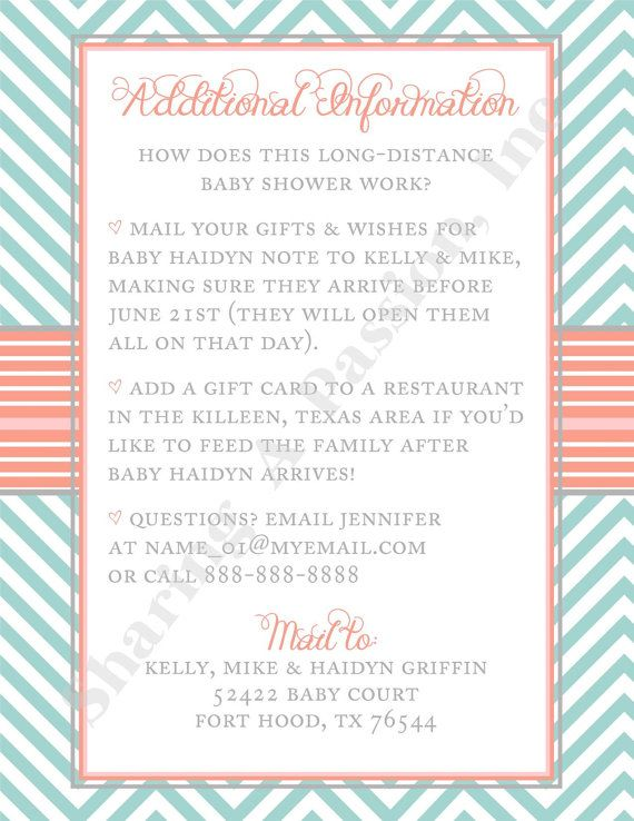Baby Shower Invitations Long Distance