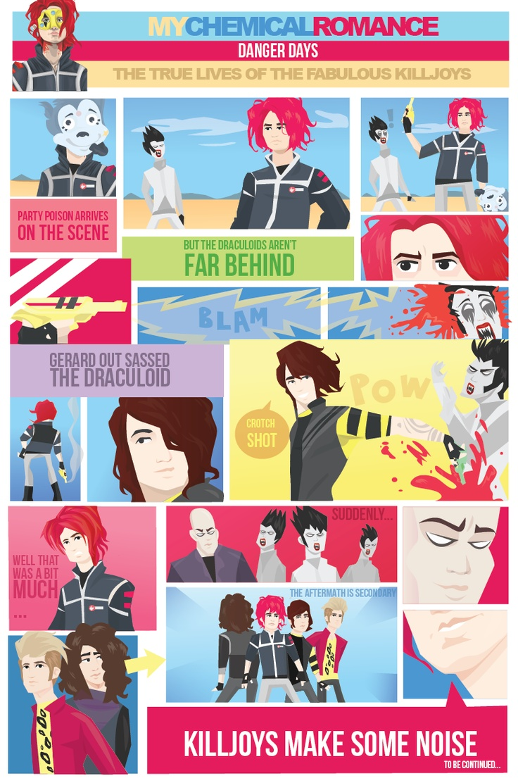 True Lives Fabulous Killjoys Wallpaper