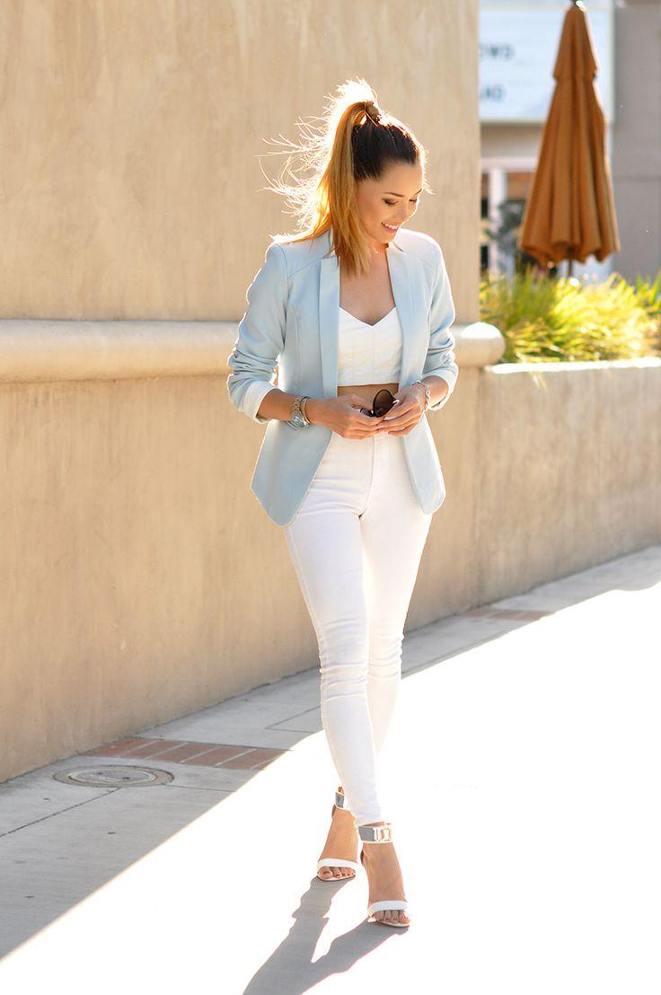 Mens Skinny Jeans Light Blue