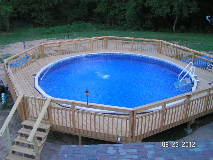 Doughboy Pool With A Walk Around Deck Makes Your Summer