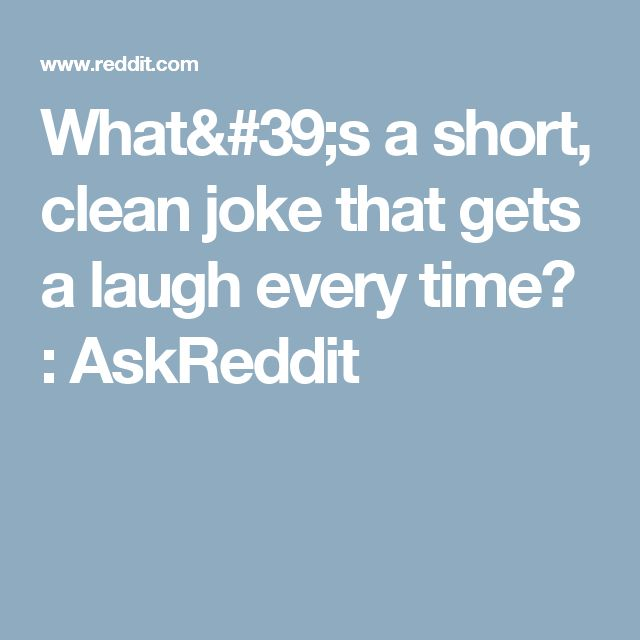 Good Clean Short Jokes