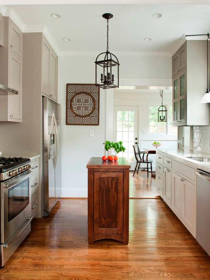 Island Small Galley Kitchen