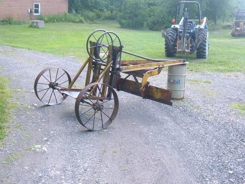 Antique Behind Grader Road Pull