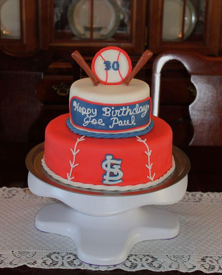St Louis Cardinals Grooms Cake Designs