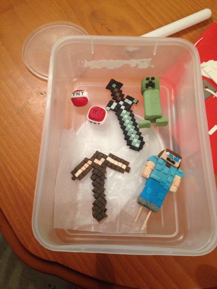 Minecraft Fondant Figurines My Creations Cocco S Treats