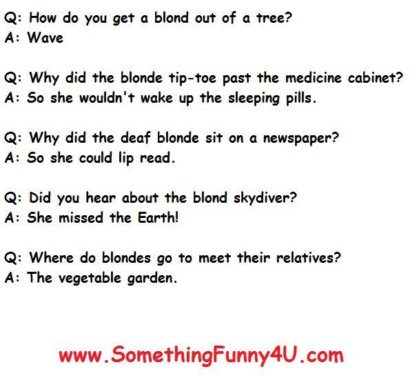 Funny Clean Blonde Jokes Short