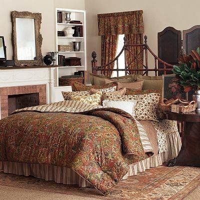 Ralph Lauren Chaps Chandler Paisley King Comforter Set 4