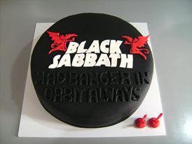 Black Sabbath Cakes Bands Cakes Pinterest Black