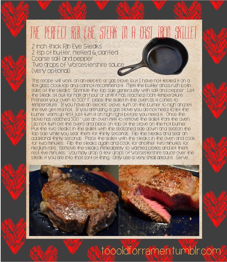 Rib Skillet Eye Steak Cast Iron