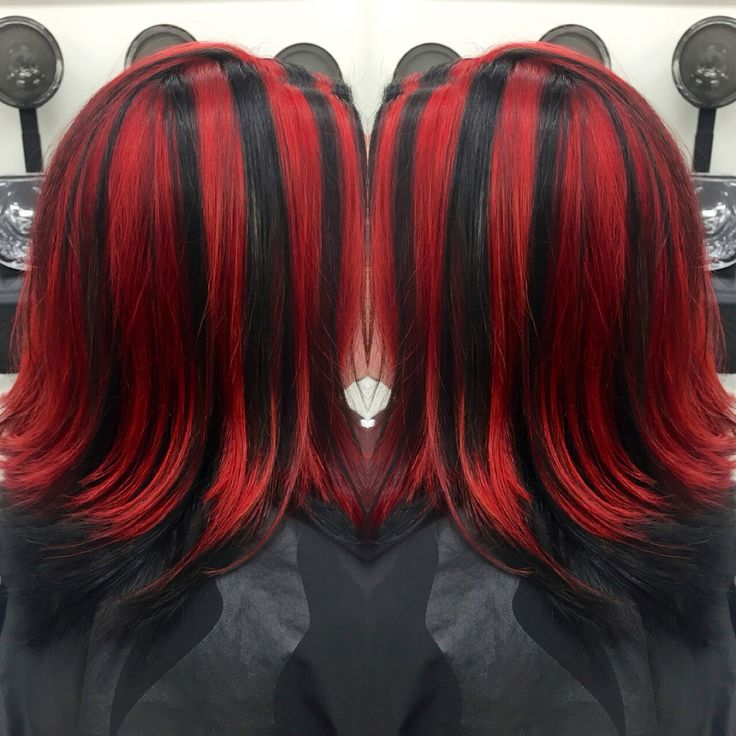 Black Red Highlights
