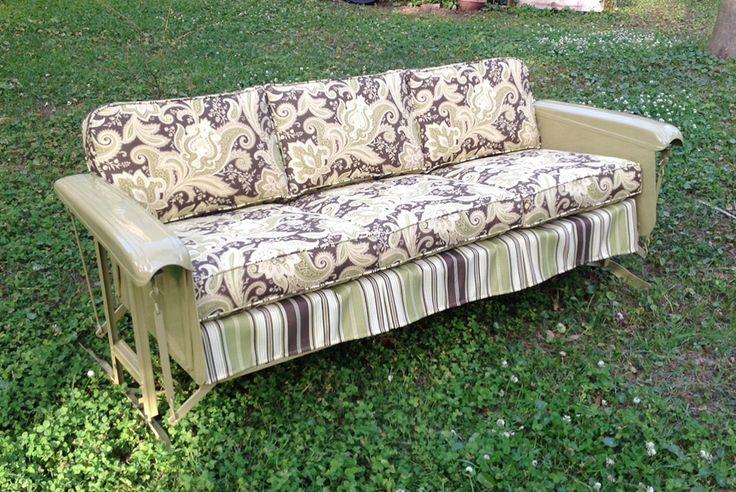 Pattern Vintage Cushions Glider