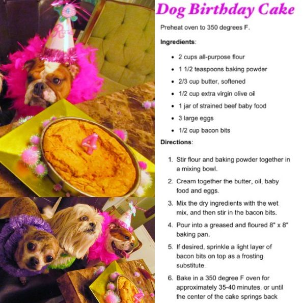 Easy Dog Birthday Cake Recipes
