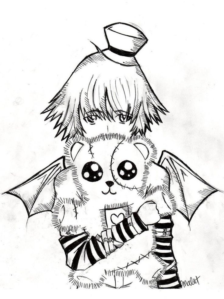 Goth Boy Coloring Pages
