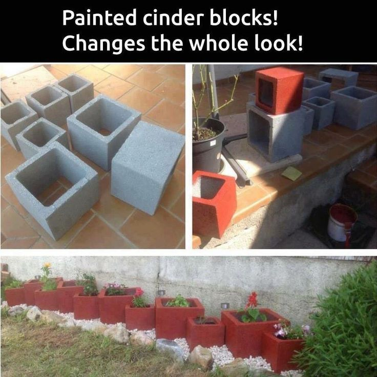 Paint Cinder Blocks Amp Liven Up Any Border Or Flower Bed