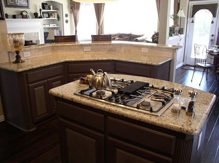 Dark Cherry Cabinets Granite New Venetian Gold Merlot