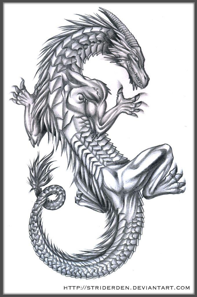 Tribal Dragon Skull Drawing Cool