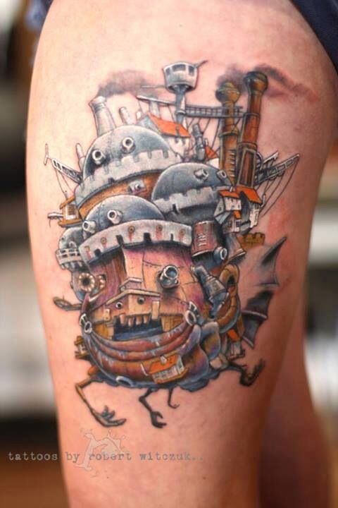 Howls Book Castle Tattoos Moving