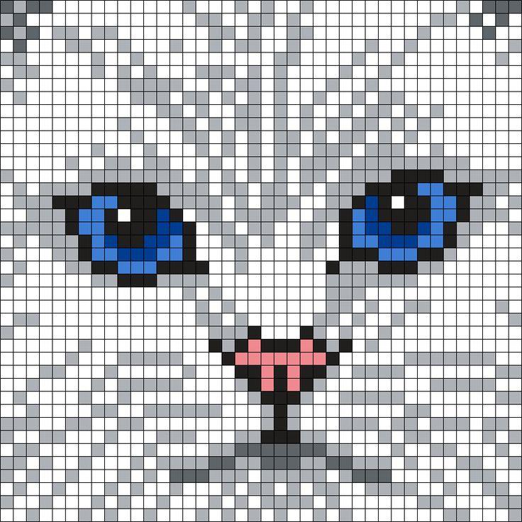 Cat Pixel Art Grid