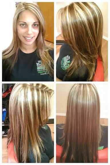 Black And Brown Weave Highlights