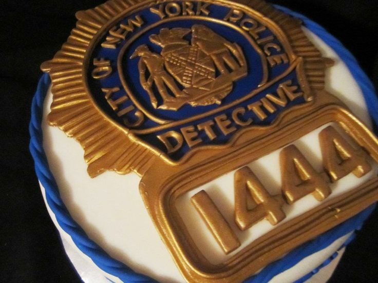 Nypd Detective Shield Cake Cake Pops Cookies 3d
