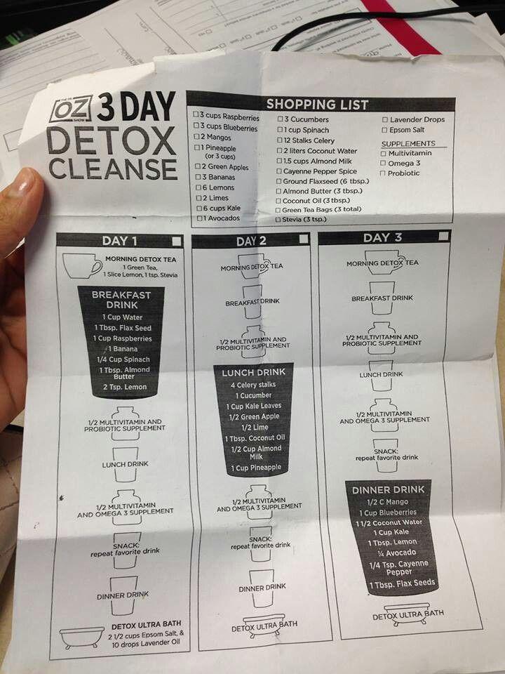 Day Oz Dr 3 Cleanse Detox